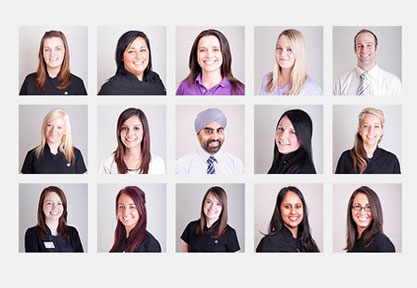 Photos of the Scott Arms Dental Practice staff