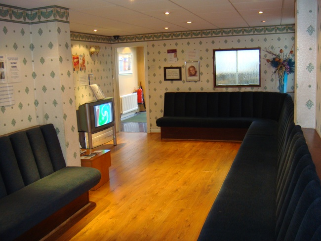 The ground floor waiting area of the Scott Arms Dental Practice