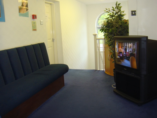 The upstairs waiting room of Scott Arms Dental Practice and dental implant centre
