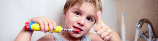 Can a child use an electric toothbrush?